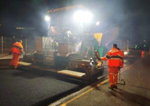 עבודות להסדרת ורמזור צומת הציונות בכביש 40 אחיסמך - לוד
